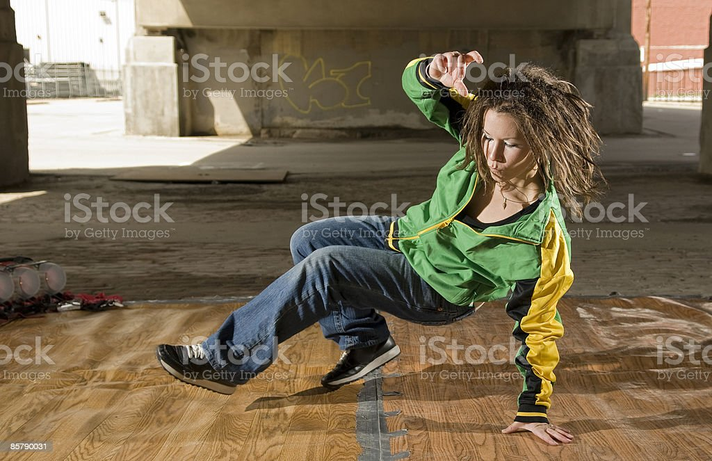 Breakdance in streets  royalty-free stock photo