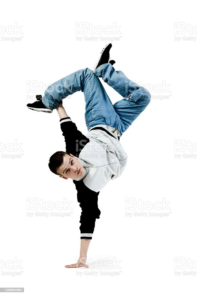 Breakdance royalty-free stock photo