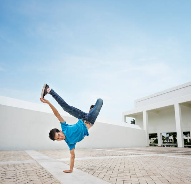 Breakdance Teenager Style Movement Hiphop Concept stock photo