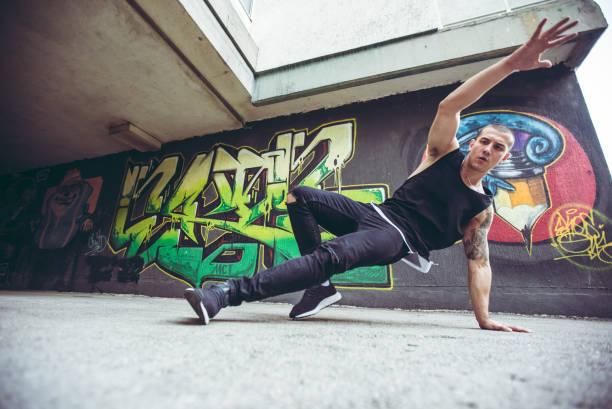Breakdance Tricks stock photo