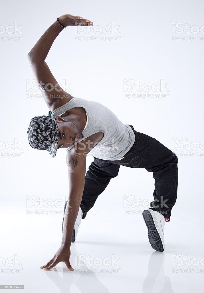 つま先上に励むブレイクダンサー ストックフォト