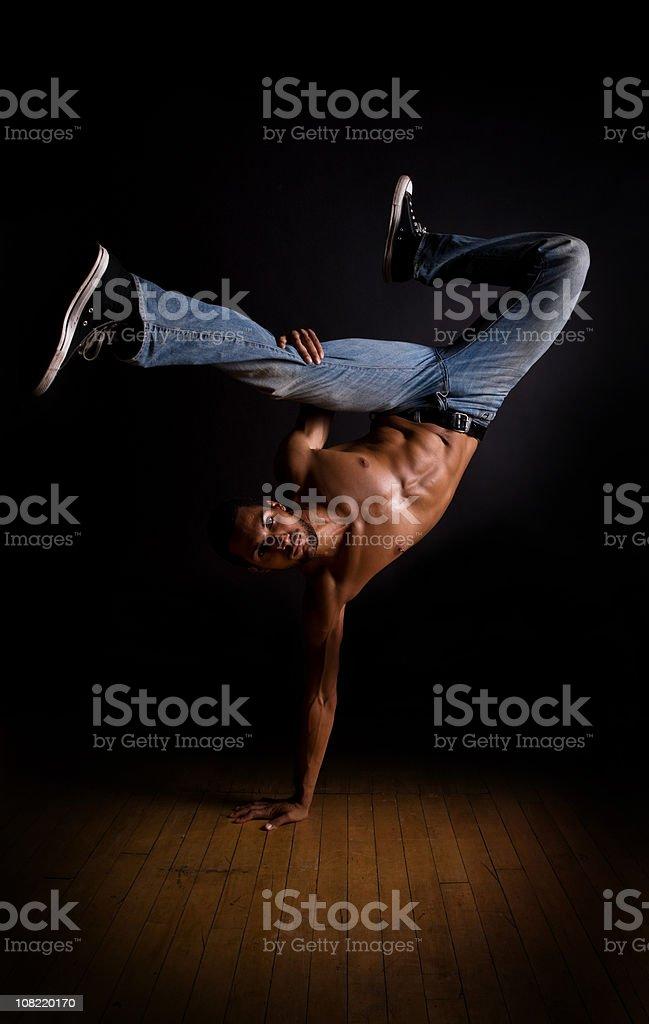 Breakdancer royalty-free stock photo