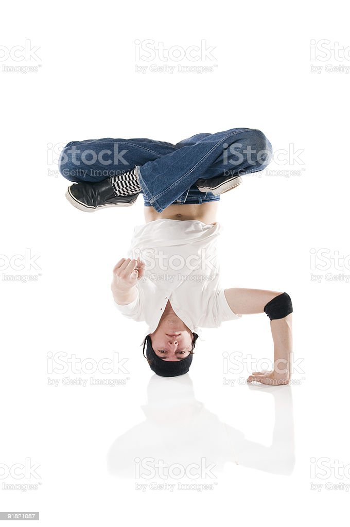 Breakdancer pointing at you! royalty-free stock photo