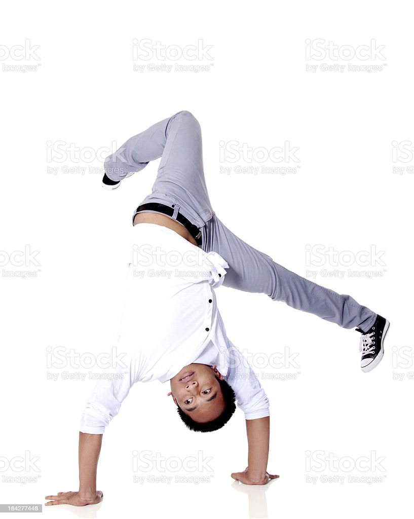 Breakdancing Handstand Hold stock photo