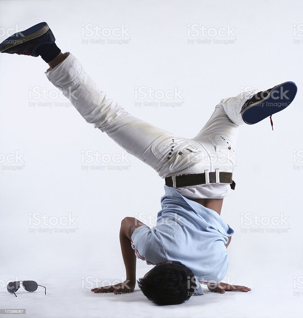 Breakdance royalty-free stock photo