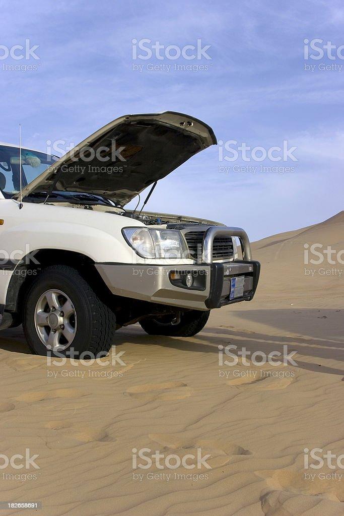 Breakdown in the desert royalty-free stock photo
