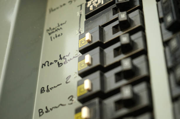 breaker box - fuse box stock photos and pictures