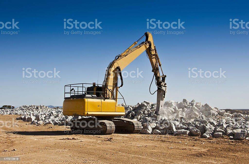 Breaker, Giant Kango Hammer stock photo