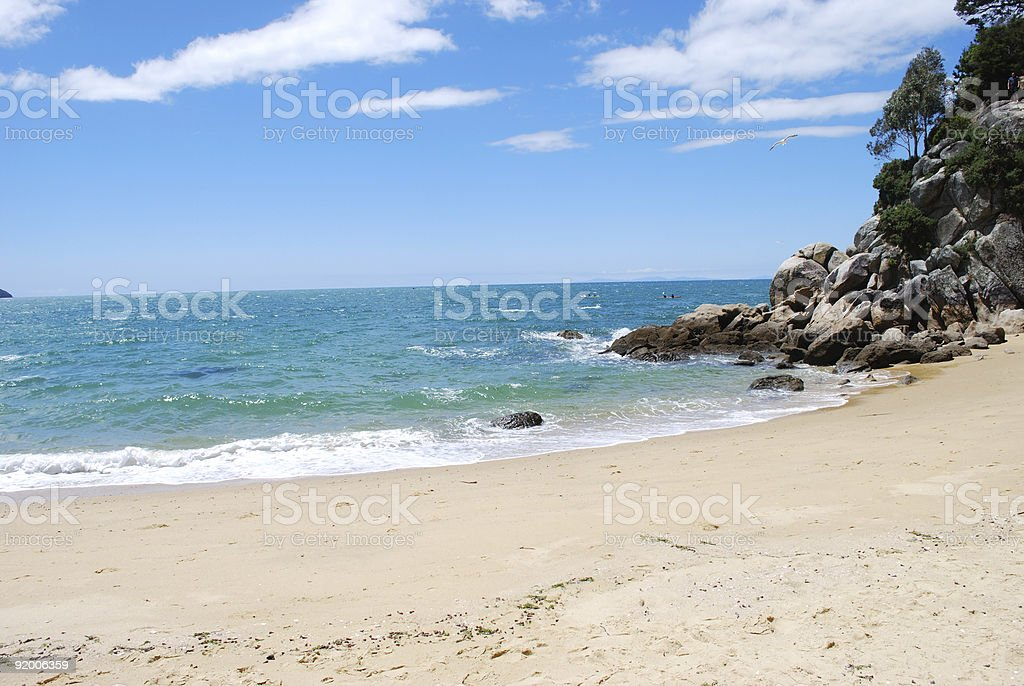 Breakers Bay, Kaiteriteri, Tasman, New Zealand royalty-free stock photo