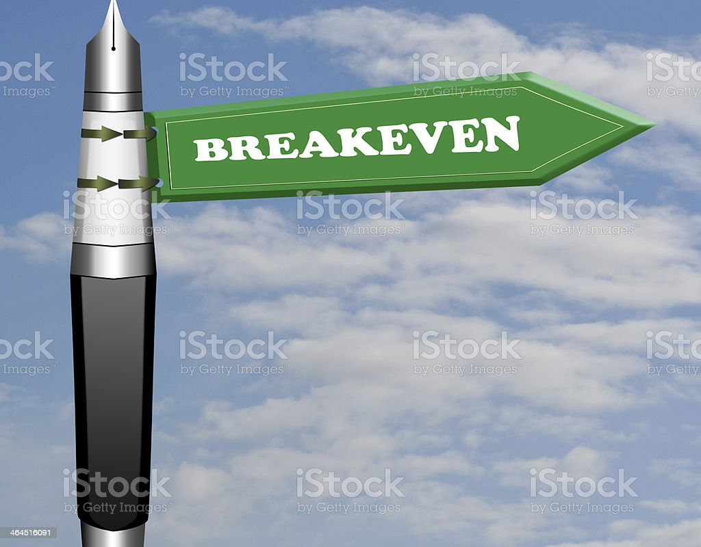 Breakeven road sign royalty-free stock photo