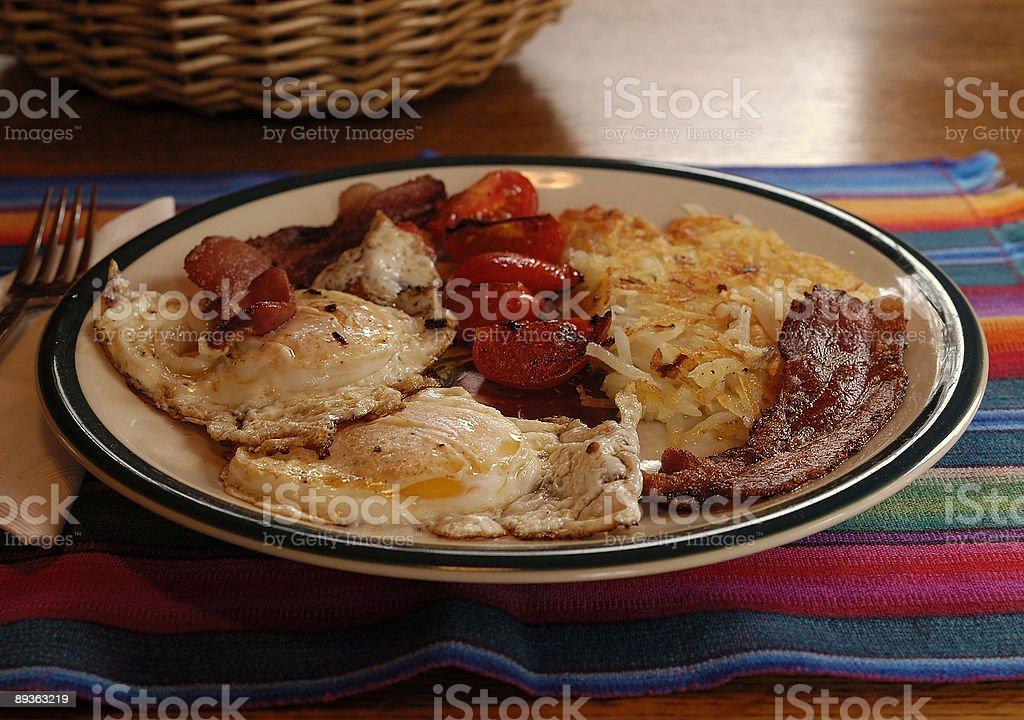 Breakfast, 8AM royalty-free stock photo