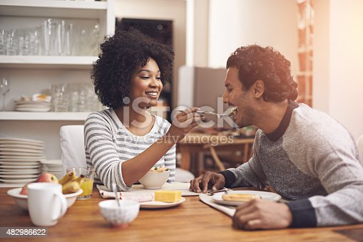 Shot of a couple eating breakfast together at homehttp://195.154.178.81/DATA/i_collage/pu/shoots/784179.jpg
