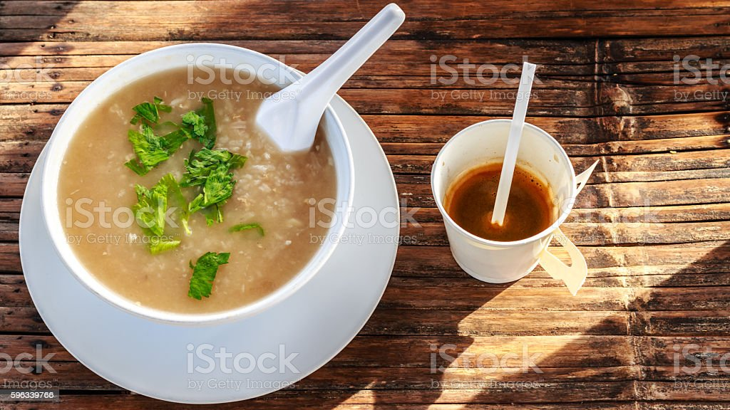 breakfast and coffee in the morning at chaingmai northern thaila royalty-free stock photo