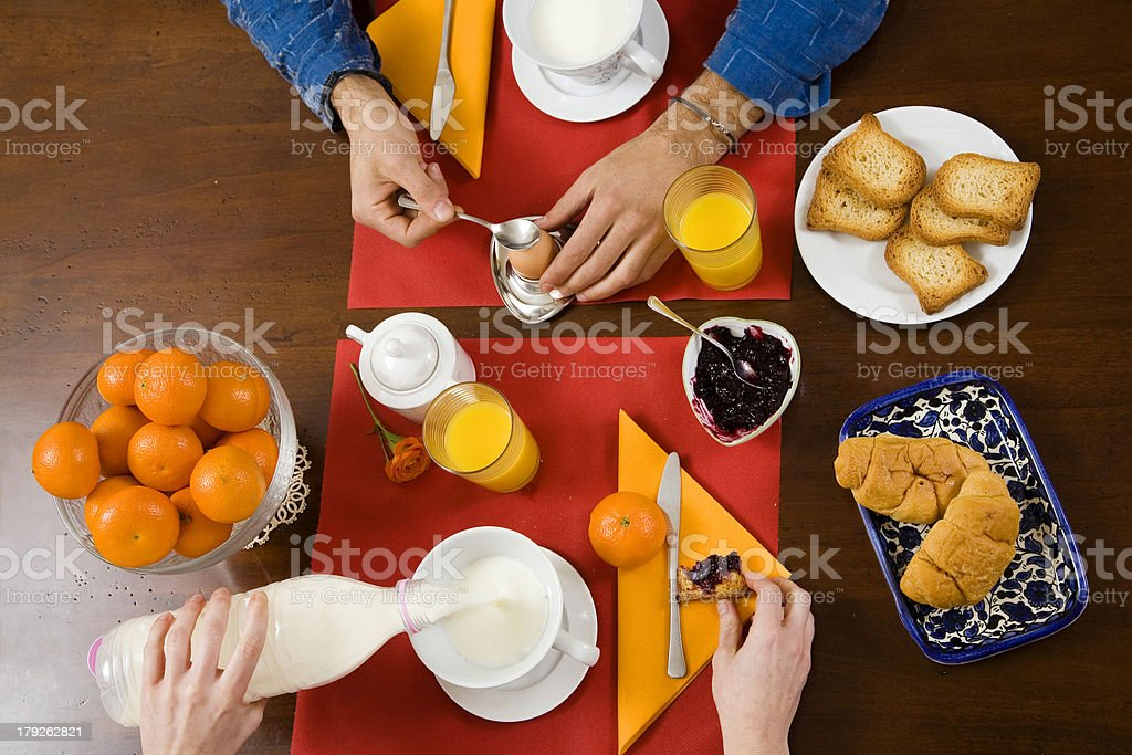breakfast at home royalty-free stock photo