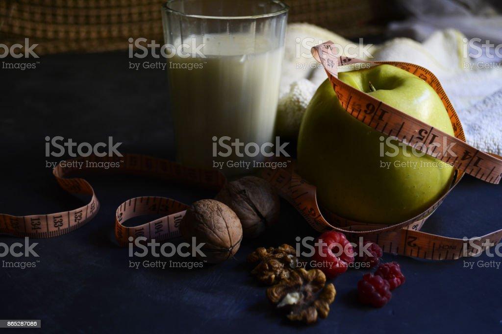 Breakfast athlete stock photo