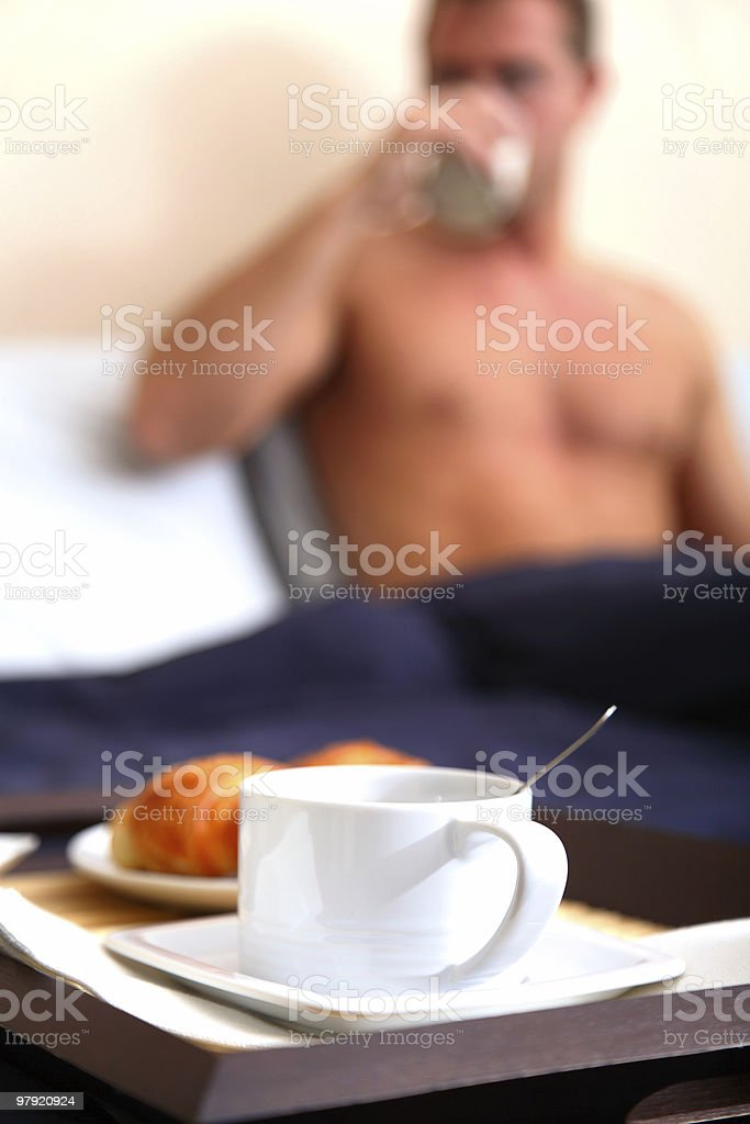 Breakfast @ bed royalty-free stock photo