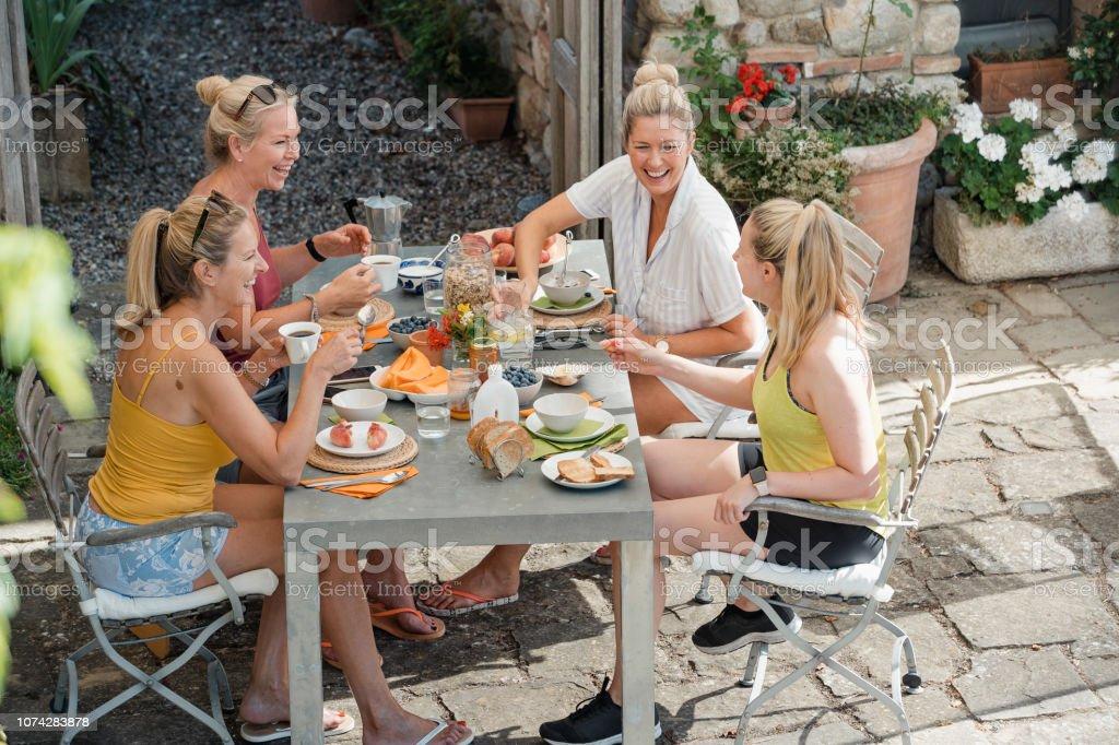 Breakfast Before Exploring Italy stock photo