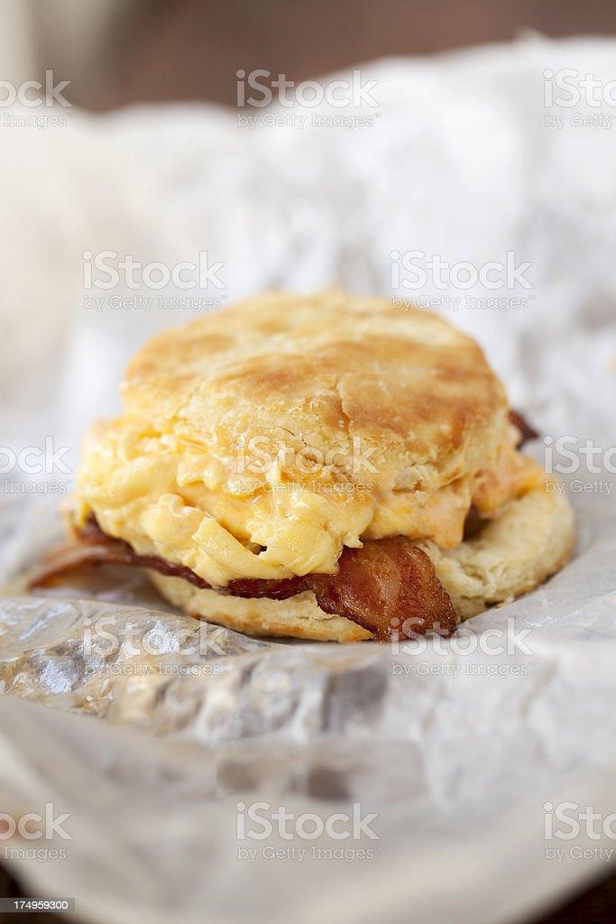 breakfast biscuit stock photo