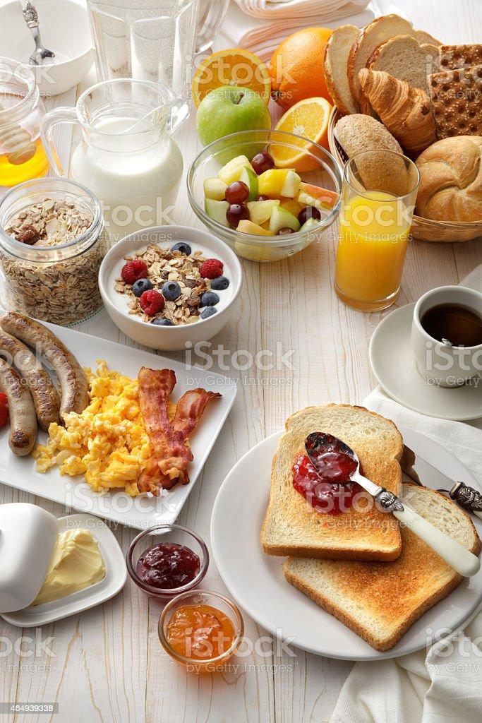 Breakfast: Breakfast Table Still Life stock photo