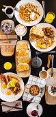 Breakfast table, no people