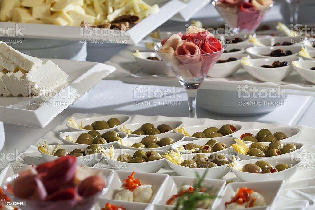Breakfast buffet in hotel royalty-free stock photo