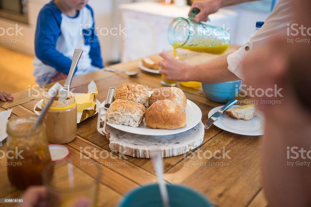 Breakfast buns stock photo