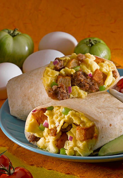Breakfast Burrito stock photo