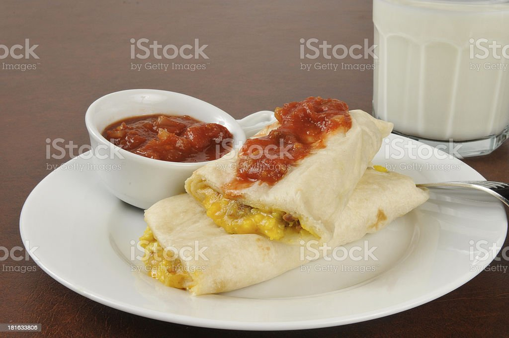 Breakfast burrito royalty-free stock photo