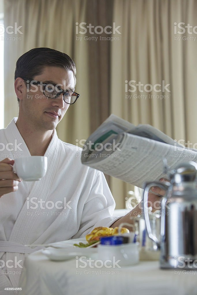 Breakfast Businessman royalty-free stock photo
