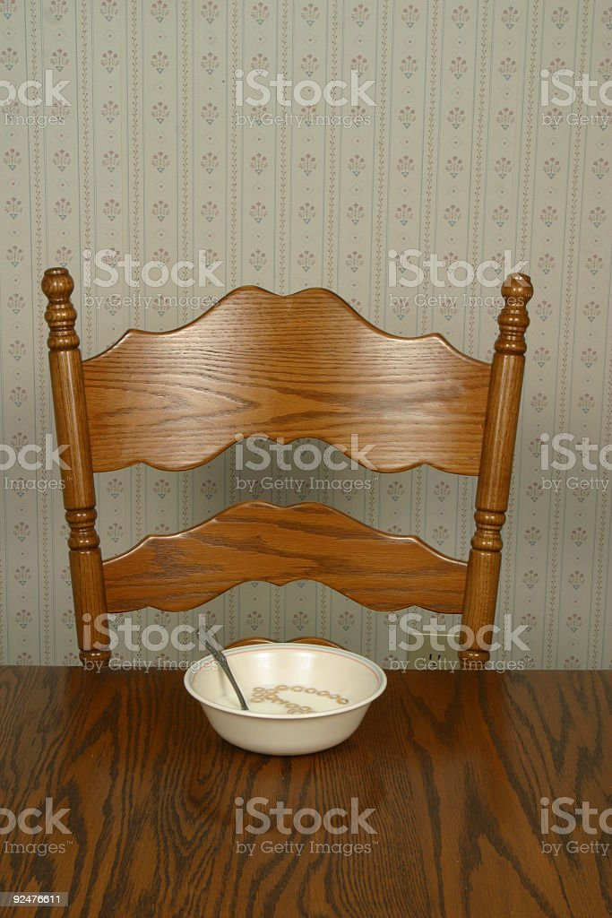 Breakfast Cereal Setting royalty-free stock photo