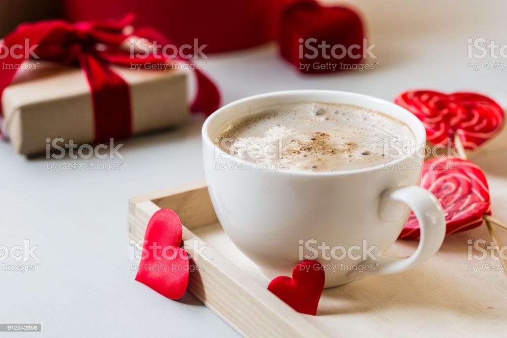 Amour Rouge Rose Café Droit Petit Coeur Libre Déjeuner De Photo 1TJ3FcKl