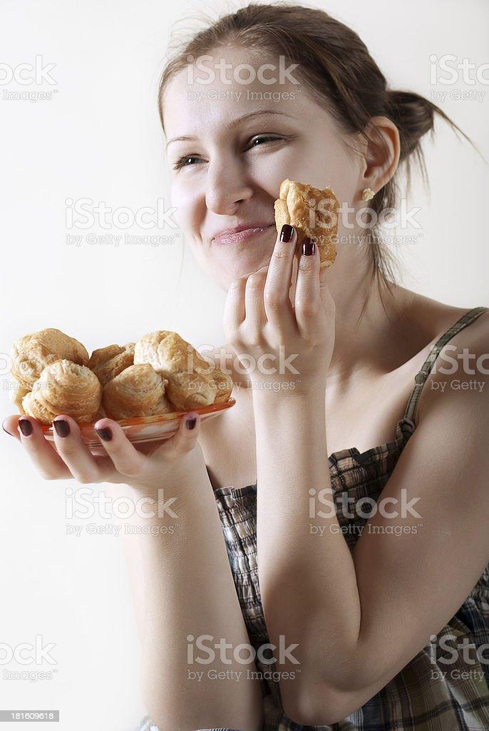 breakfast croissants royalty-free stock photo