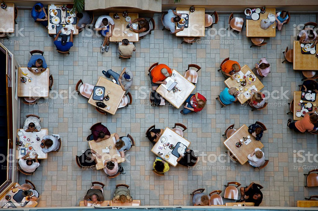breakfast dining view stock photo