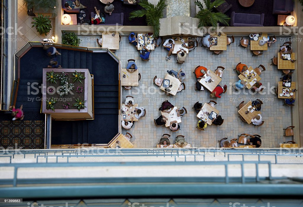 breakfast dining view royalty-free stock photo