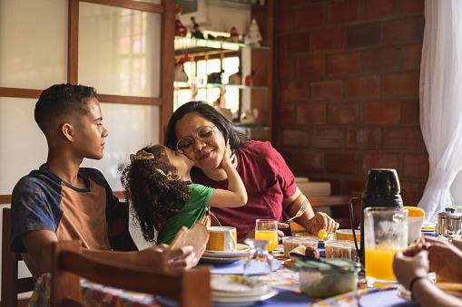 Brazil, Family, Breakfast, Kitchen, People