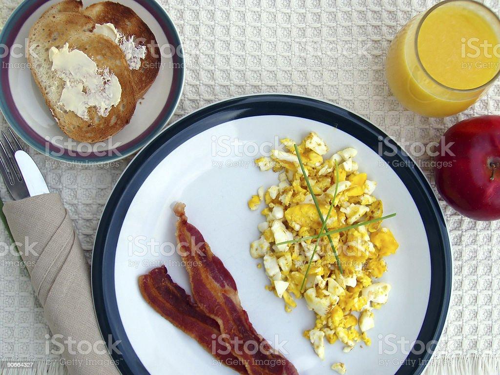 Breakfast  - Eggs, Orange Juice and Bacon stock photo