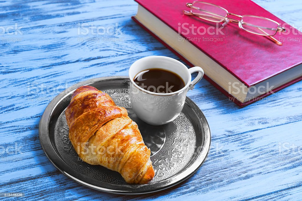 breakfast fine white porcelain cup with black stock photo