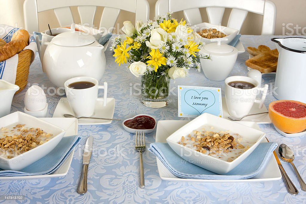 Breakfast for mommy royalty-free stock photo