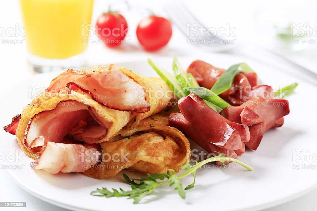 Breakfast fry-up royalty-free stock photo