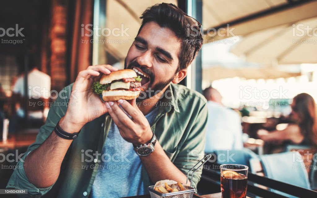 Breakfast in a cafe. Food, lifestyle concept stock photo