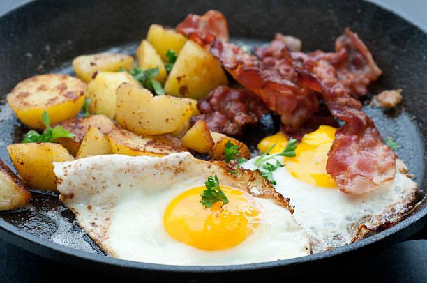 Breakfast In A Pan bildbanksfoto