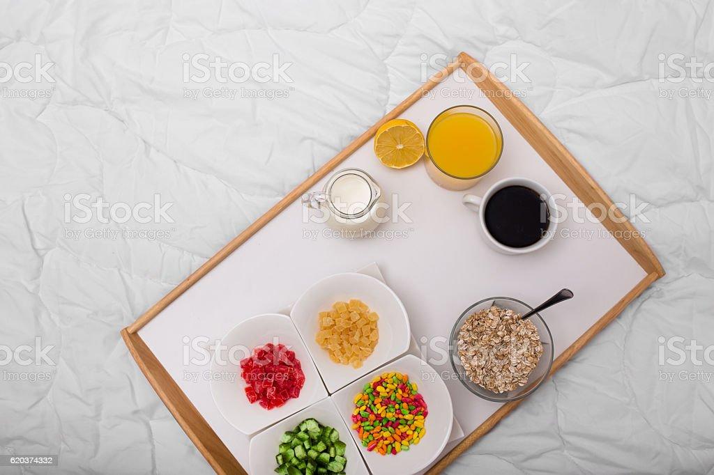 Cama de pequeno-almoço na foto de stock royalty-free