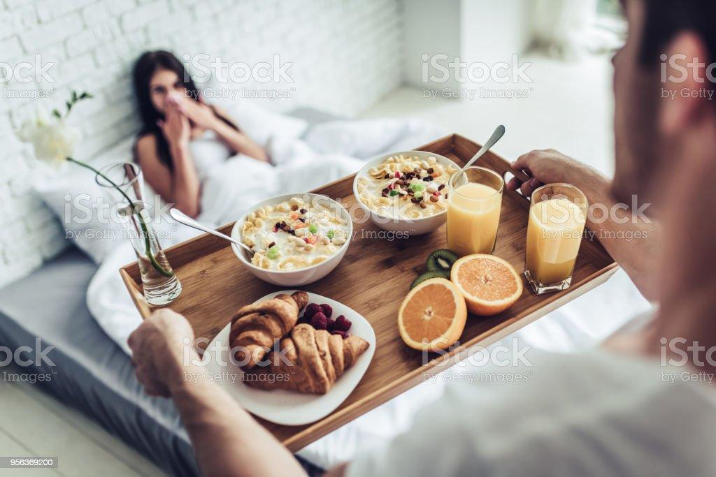 Breakfast In Bed Stock Photo Download Image Now Istock