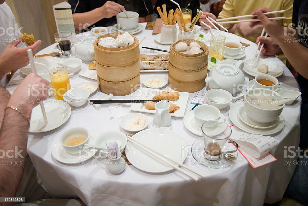 breakfast in Hong Kong royalty-free stock photo