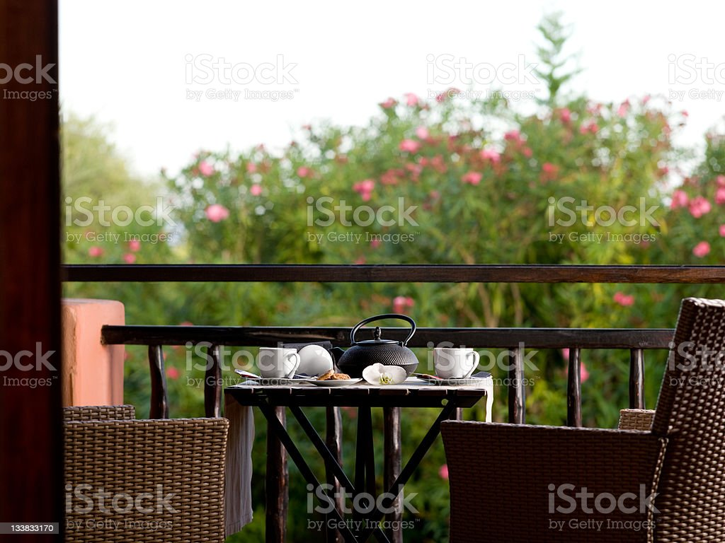 breakfast in hotel room royalty-free stock photo