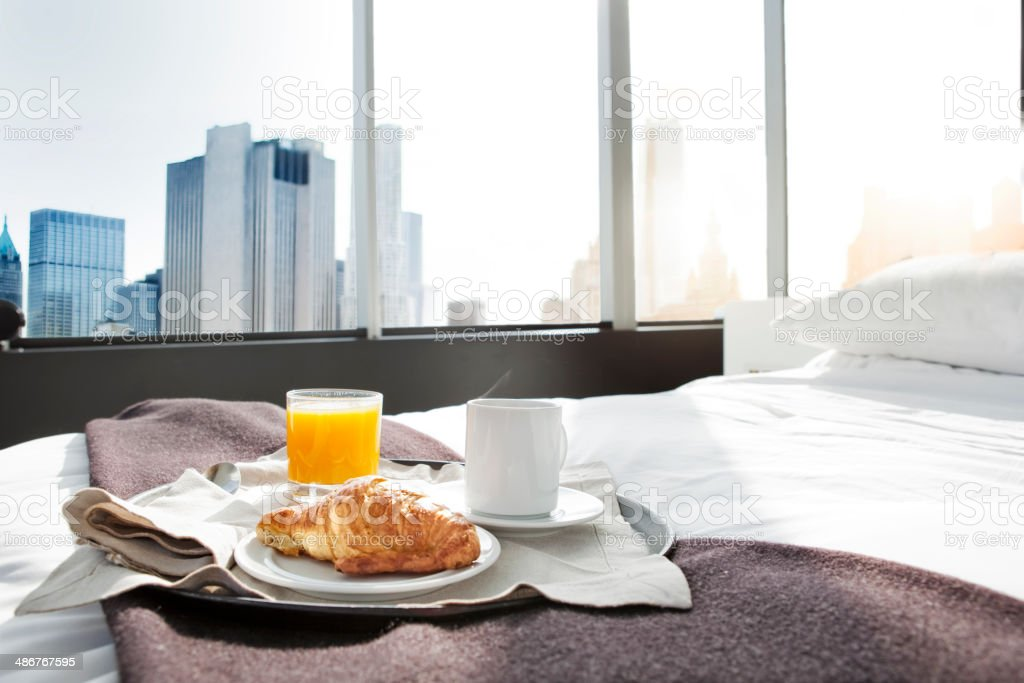 Breakfast in New York stock photo