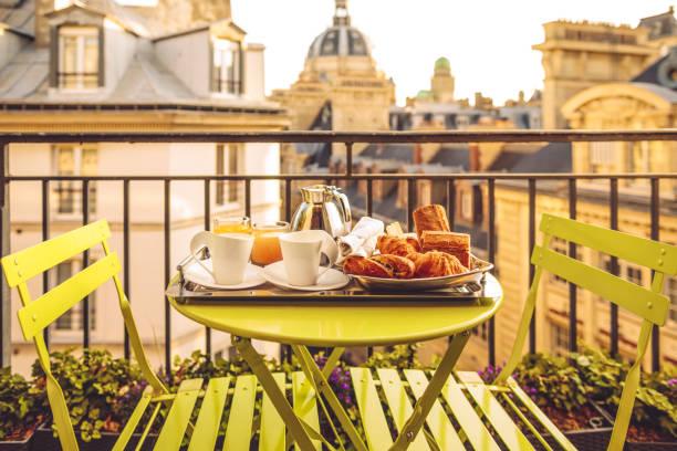 Breakfast in Paris stock photo