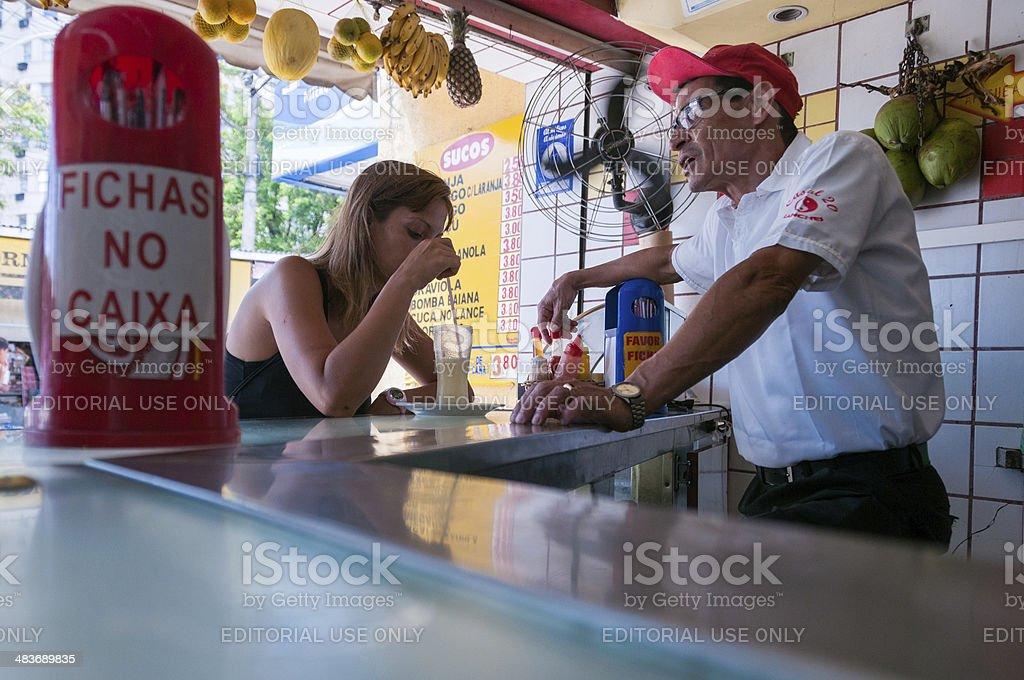 Breakfast in Rio royalty-free stock photo