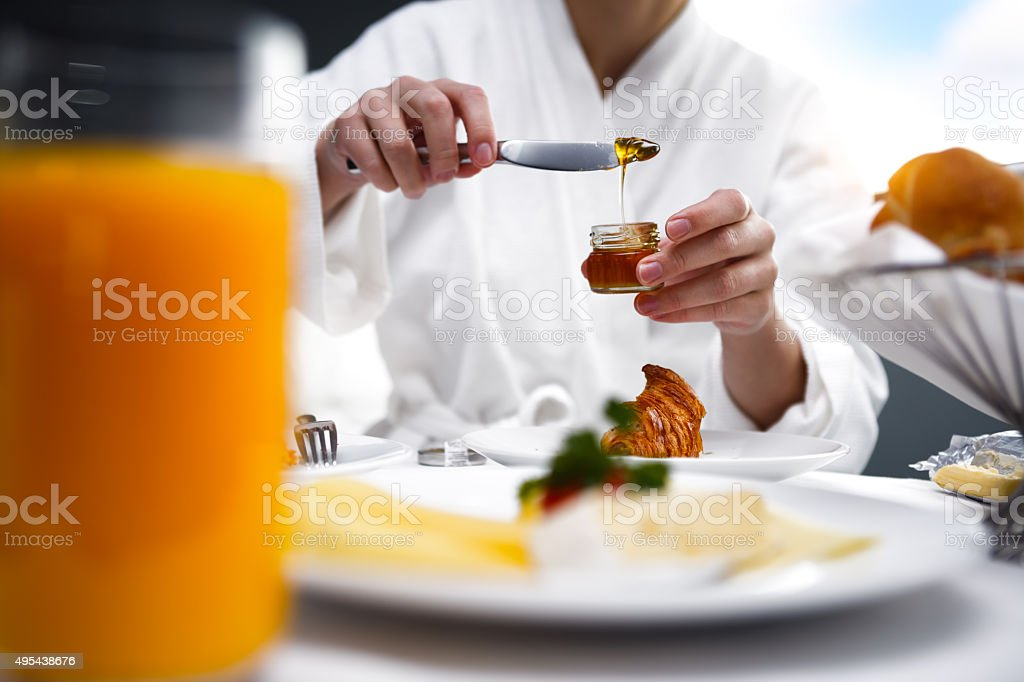 Breakfast in Room stock photo