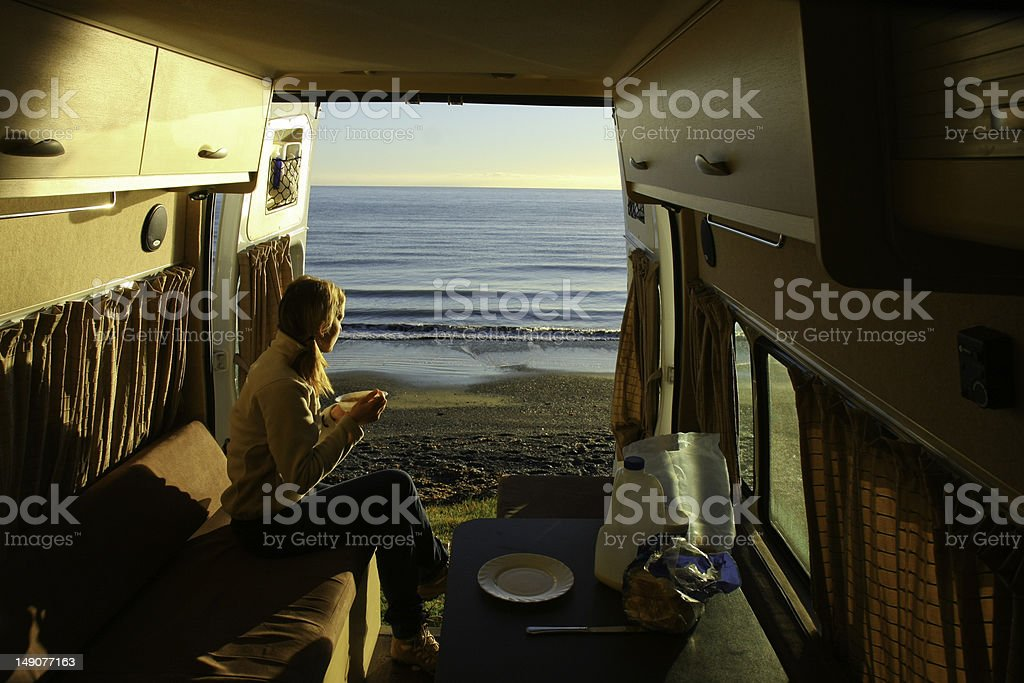 Breakfast in the nature royalty-free stock photo